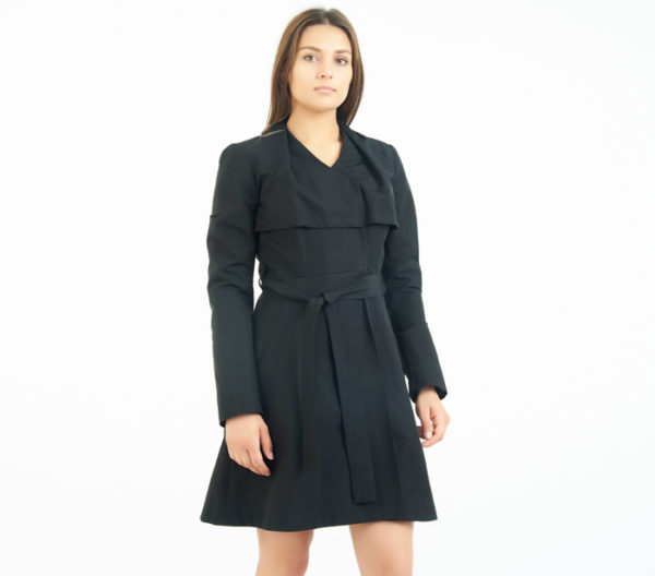 Coat Check Chicago Black Belted Trench