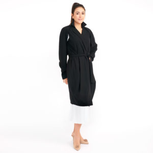 Jil Sander Black Unlined Trench Coat