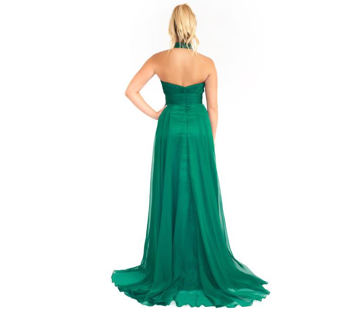 Mac Duggal Emerald Halter Neck Evening Gown – DesignerShare