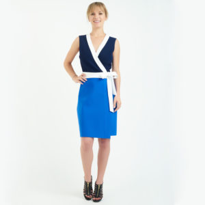 Colorblock DVF Wrap Dress