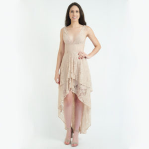The Jetset Diaries Lace High-low Maxi Dress