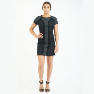 ALC Black and grey illusion mini dress