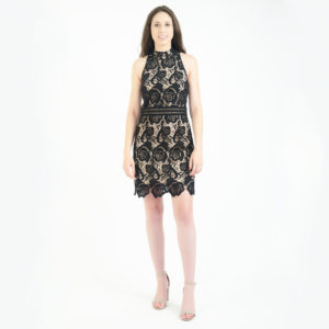 Artelier Nicole Miller Black Lace Mini Dress
