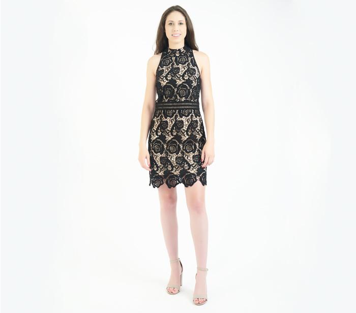 Artelier Nicole Miller Black Lace Mini Dress Designershare