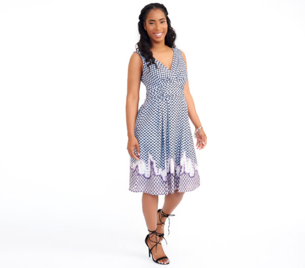 Nanette Lepore Periwinkle Print Dress