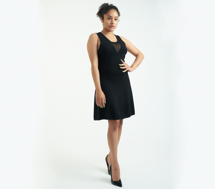 31 Phillip Lim Black Sleeveless Dress With Illusion Neckline