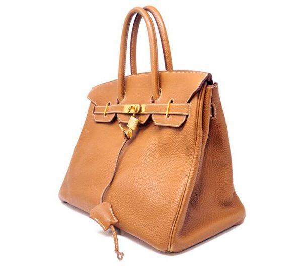 Designershare Hermès Natural Barenia Faubourg Birkin 35 Fauve - Side 2