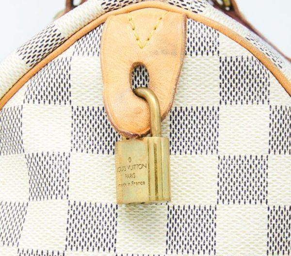 DesignerShare Louis Vuitton Damier Azur Speedy Bandouliere 30 Tote - Detail