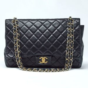 1d49ee9a8fedd Chanel Lambskin Quilted Classic Single Maxi Flap Bag