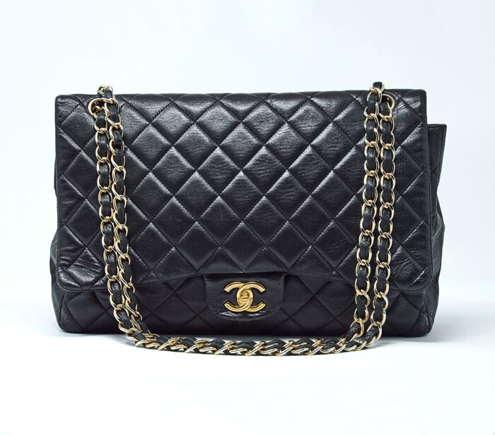 147ef472cece Chanel Lambskin Quilted Classic Single Maxi Flap Bag – DesignerShare