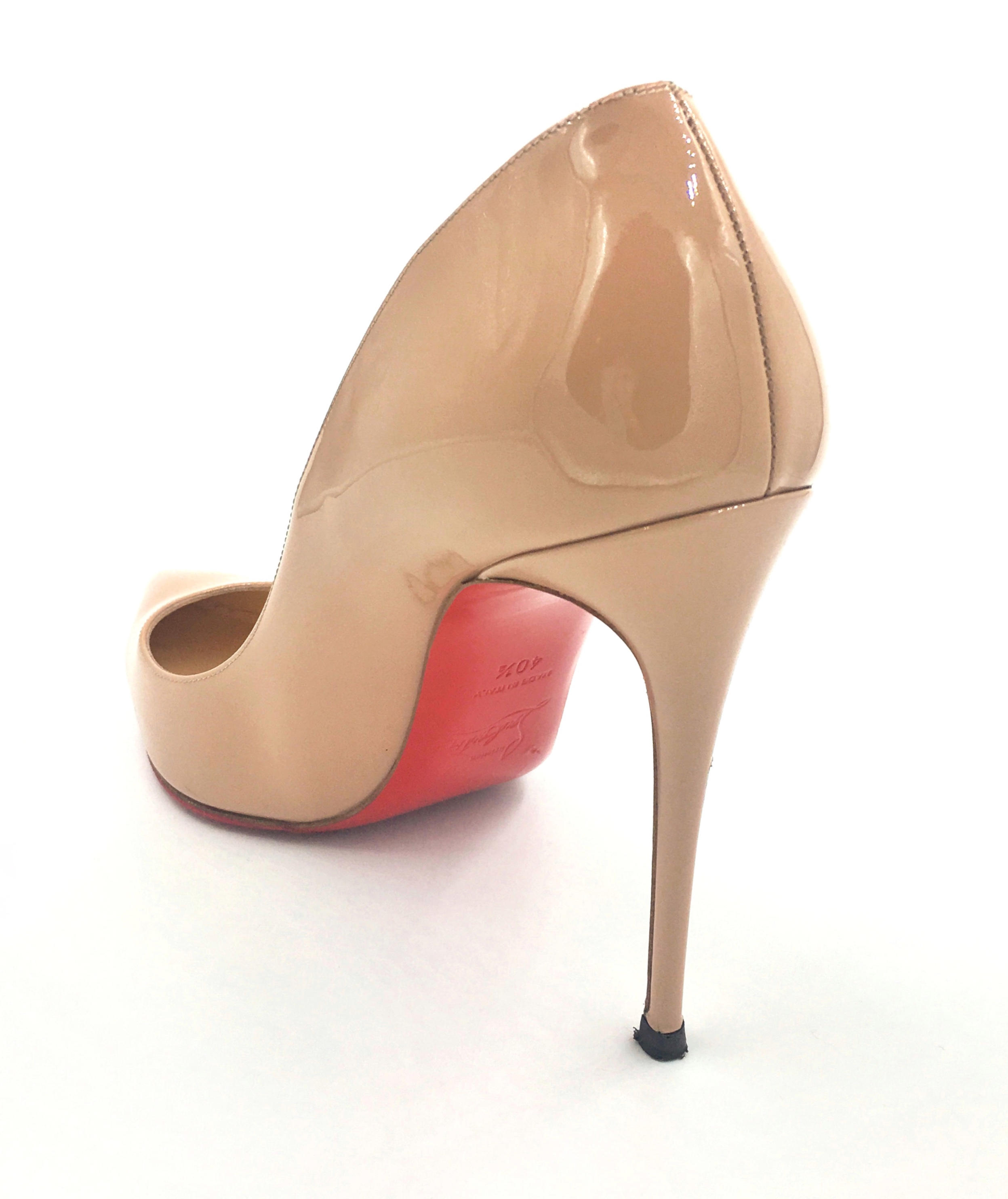 4a09da1f65b8 Christian Louboutin Pigalle Nude Patent Leather 100mm stilettos ...