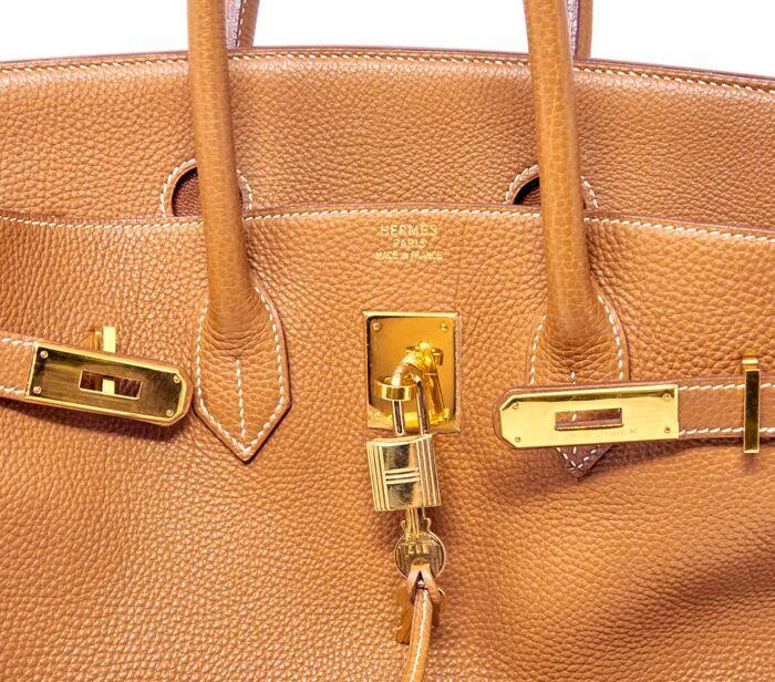 6da87bcf4d7 DesignerShare Hermès Natural Barenia Faubourg Birkin 35 Fauve - Detail