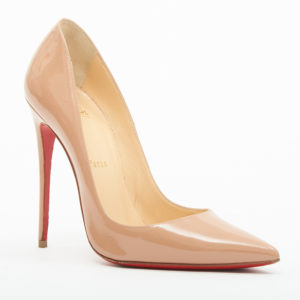 be120d519 Christian Louboutin Pigalle Nude Patent Leather 120mm Stilettos