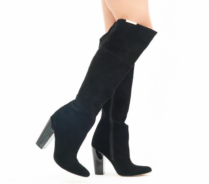 Calvin Klein Suede Knee-High Heeled