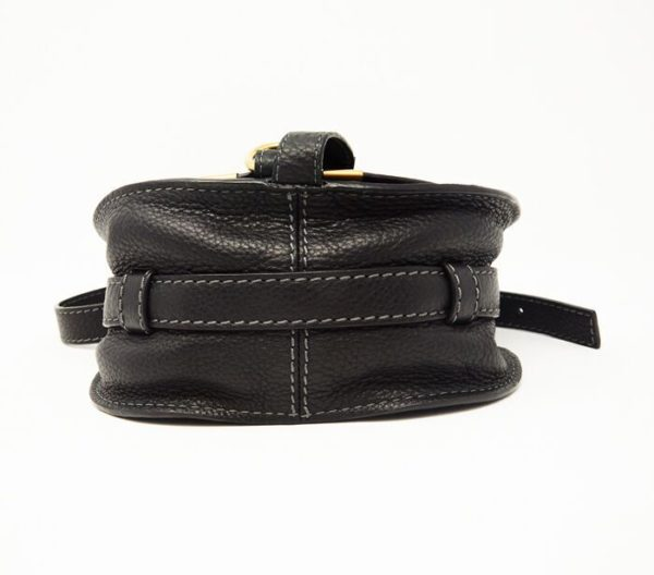DesignerShare Chloé Mini Marcie Leather Crossbody Bag - Bottom