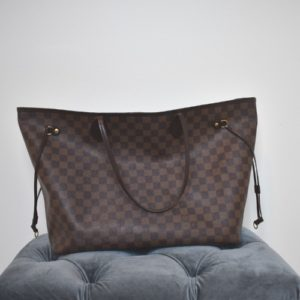DesignerShare Louis Vuitton Damier Ebene Neverfull MM Tote - Front