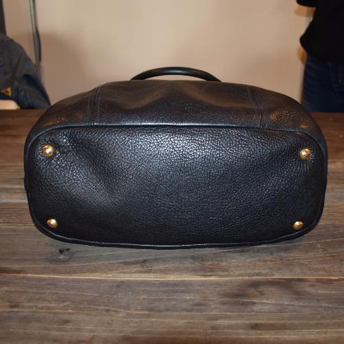Prada Vitello Daino Large Shopper Bag - Bottom