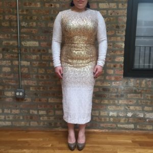 Dress The Population Emery Ombre Sequined Bodycon Dress