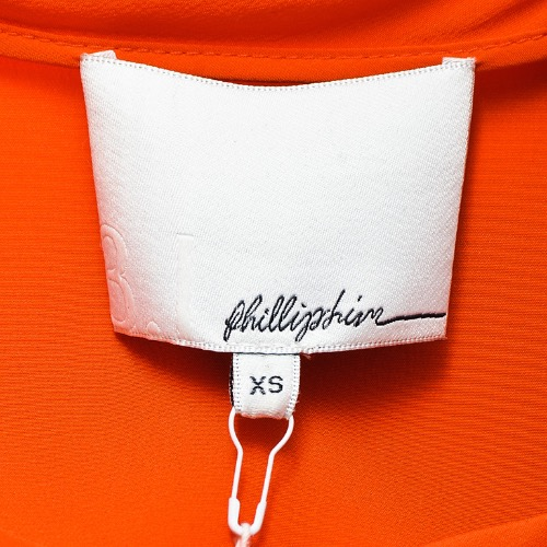 "3.1 Phillip Lim ""Papaya"" Orange Silk Sequined Draped Sleeveless Top Tag"