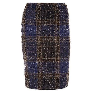 Vintage Carolina Herrera Plaid Skirt