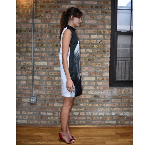 Persy Graphic Shift Dress