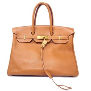 DesignerShare Hermès Natural Barenia Faubourg Birkin 35 Fauve - Front