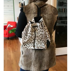 DesignerShare Elizabeth and James Pony Hair Cynnie Sling Backpack - Front