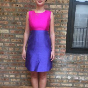 Kate Spade Vivid Snapdragon/Perfect Purple Blakely Cocktail Dress