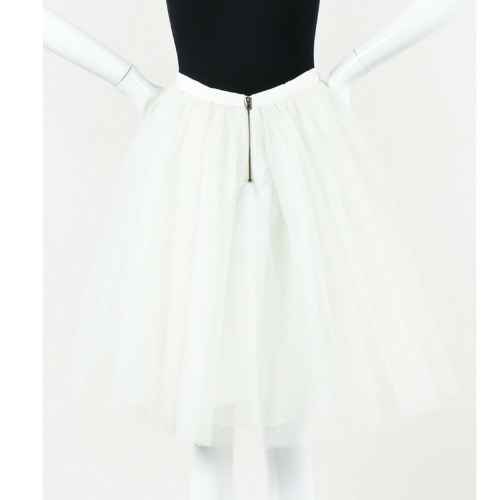 Alice + Olivia White Tulle Full Skirt Zipper