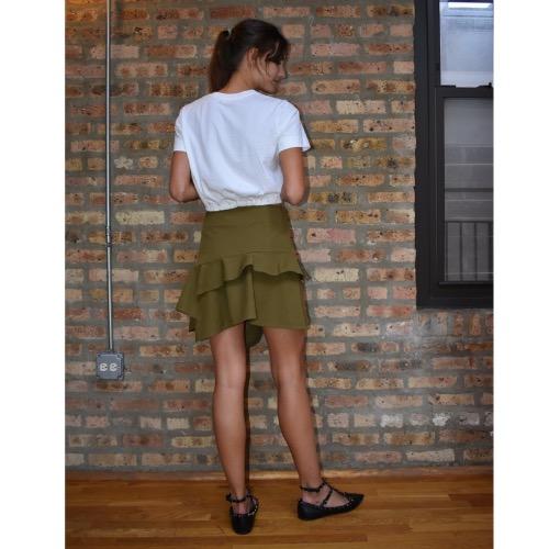 Derek Lam 10 Crosby Asymmetrical Ruffle Mini Skirt Back