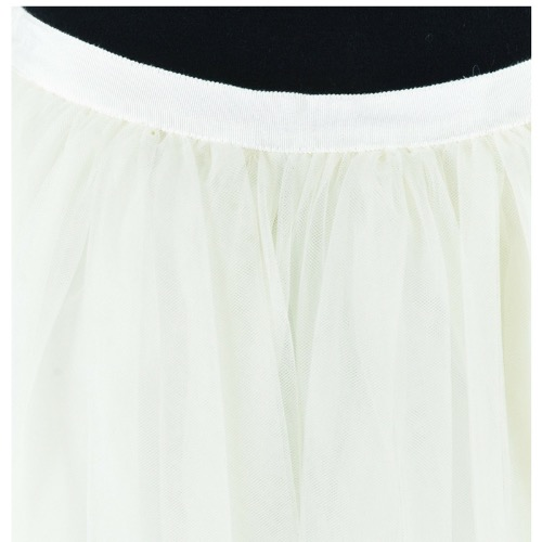 Alice + Olivia White Tulle Full Skirt Waistband
