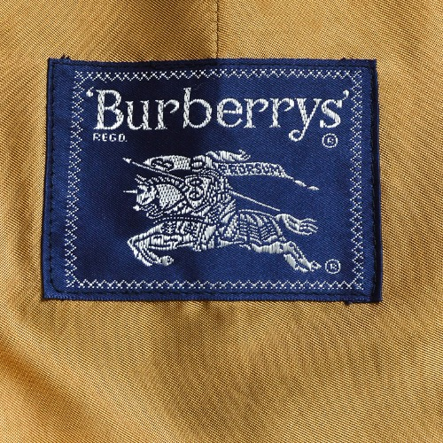 Burberry Vintage Burberry Black Cotton Wool Lined Belted Trench Coat Tag