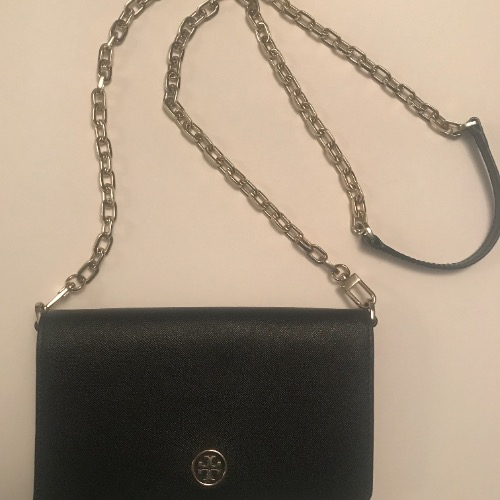 DesignerShare Tory Burch Robinson Leather Wallet on Chain - Front
