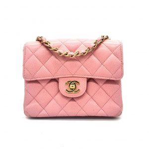 ed759c1df Chanel Caviar Quilted Mini Square Flap Pink