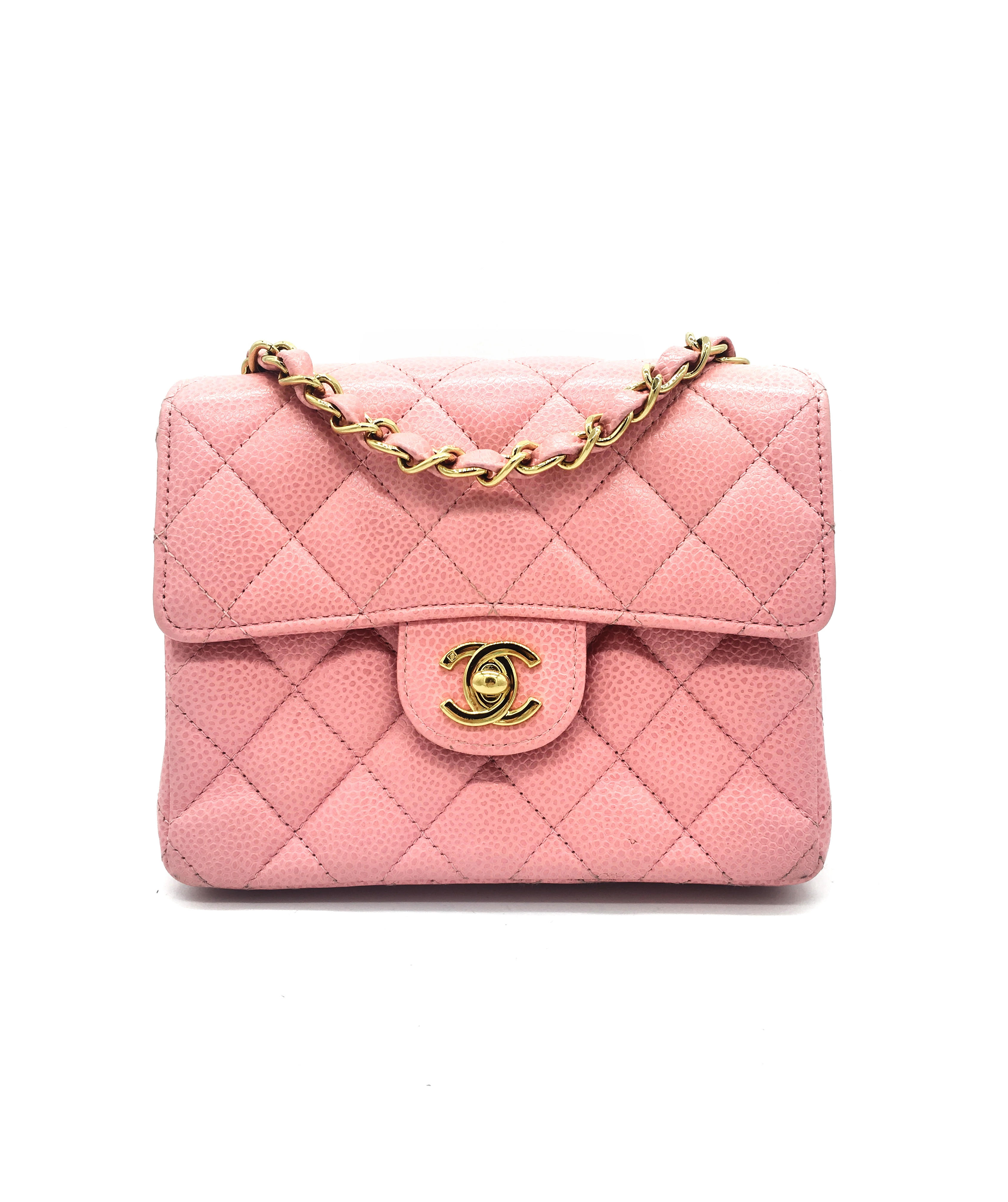 9d157edfd38f Chanel Caviar Quilted Mini Square Flap Pink – DesignerShare