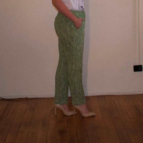 Leifsdottir Cropped Tweed Trouser 3