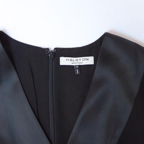 Halston Heritage Black Cutout Vest Turnlock Flowy Jumpsuit Tag