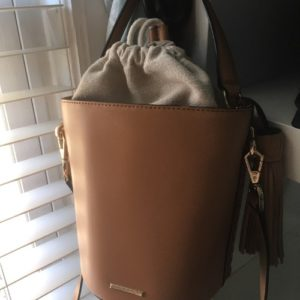 DesignerShare Rebecca Minkoff Whipstitch Top Handle Leather Bucket Bag - Front