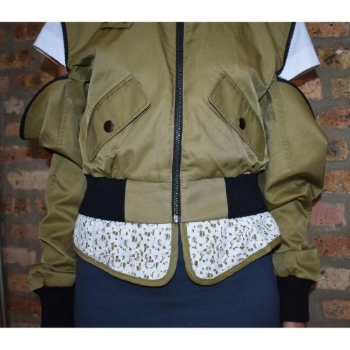 Marissa Webb Madelyn Bomber Jacket Zipper Detail