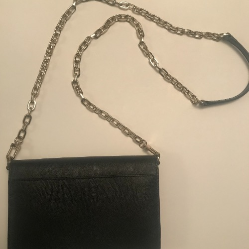 DesignerShare Tory Burch Robinson Leather Wallet on Chain - Back