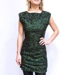 Alice & Olivia Green Sequined Party Dress