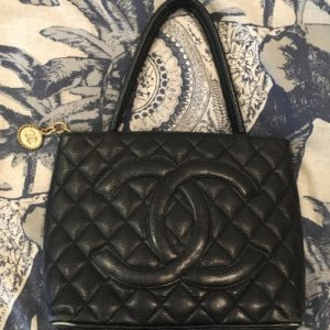 96fbd8ba05fd Chanel Caviar Quilted Gold Medallion Tote Bag