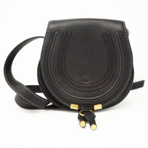 DesignerShare Chloé Mini Marcie Leather Crossbody Bag - Front