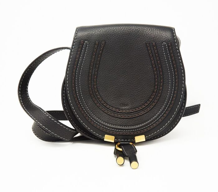 9f0990cf19 DesignerShare Chloé Mini Marcie Leather Crossbody Bag - Front