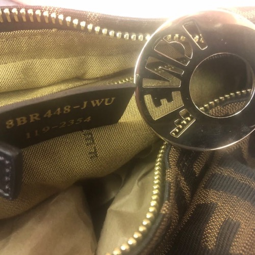 Fendi Monogram Brown Zucca Jacquard Hobo 3