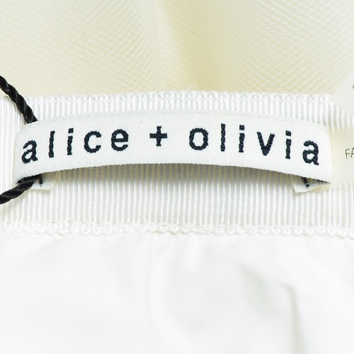 Alice + Olivia White Tulle Full Skirt Tag