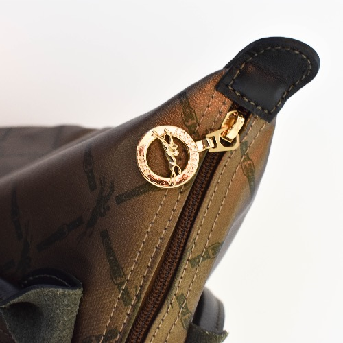 DesignerShare Longchamp Gold Le Pliage Tote - Detail