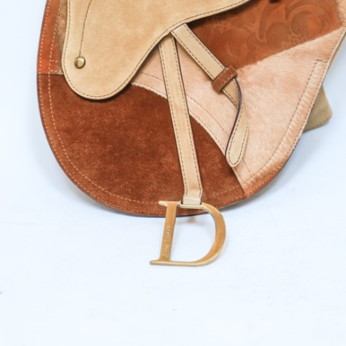 Christian Dior Suede & Ponyhair Saddle Bag 3