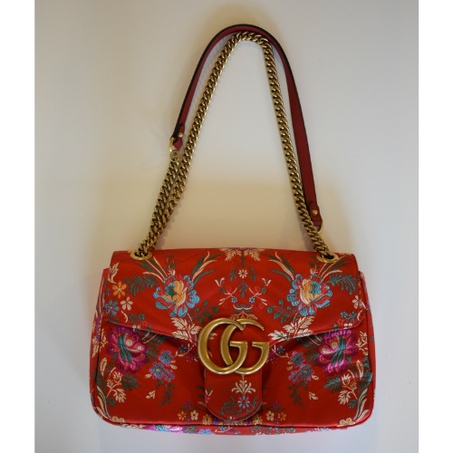 cfcf6aafb301 DesignerShare Gucci Red Floral Marmont Bag - Model. DesignerShare ...