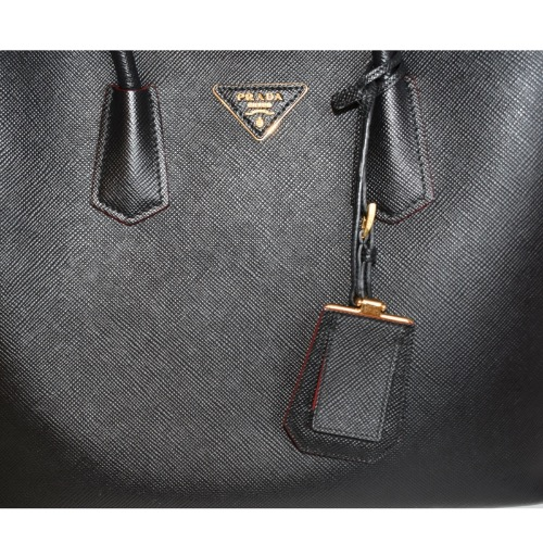 DesignerShare Prada Saffiano Cuir Double Medium Tote Bag - Detail